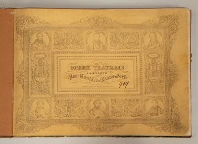 Milano: F. Lucca , 1854. LUCANTONI, Giovanni 1825-1902, arranger. Oblong folio. Dark green leather-b...
