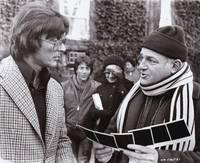 image of Marathon Man (Original photograph of Robert Evans, director John Schlesinger, and Dustin Hoffman on the set of the 1976 film)