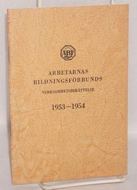 Arbetarnas bildningsförbunds verksamhetsberättelse 1953-1954