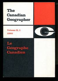 image of The Canadian Geographer/Le GéographeCanadien, Volume 10  Number 1