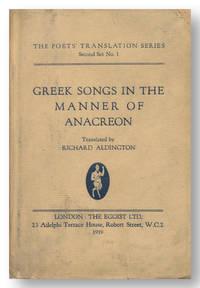 GREEK SONGS IN THE MANNER OF ANACREON