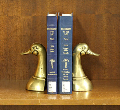 2016. Restatement of the Law Third. Torts: Products Liability. 2 Volumes. Volume 1: 1-end tables & i...