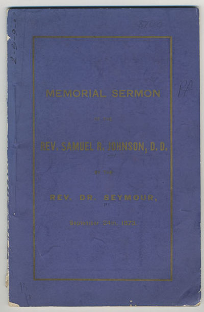 New York: Styles & Cash, . 51, pp. Johnson was a missionary in the west, and then for 20 years a pro...
