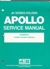 image of JK Series Holden Apollo Service Manual Volume No.5 Automatic Transaxle ( Overhaul )