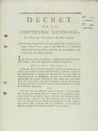 Décrets n° 591 et 299 de la Convention Nationale, du 19 mars 1793, l'an second de...