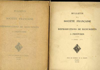 Paris: Pour les Membres de la Societé, 1920. First Edition. Softcover. Very Good Condition. Softcov...