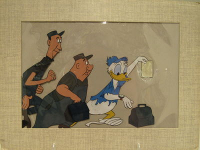 ABAA | Animation/production celluloid of Donald Duck from