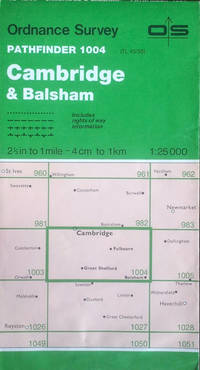 Pathfinder sheet 1004 (Cambridge & Balsham) by Ordnance Survey - Sheet TL45/55 (scale 1:25,000) - 1987 - from Acanthophyllum Books and Biblio.com