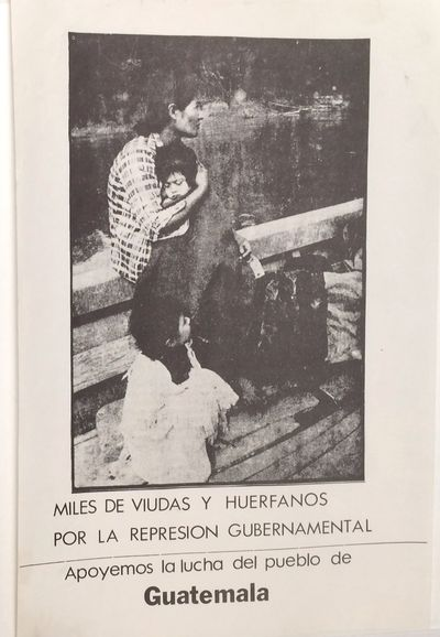 n.p., . 8.5x13 inch posterwith black and white photo. Calls for support to the people of Guatemala, ...