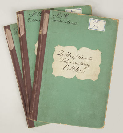 : , 1875. 3 volumes. Large octavo. Dark brown textured cloth-backed green boards with decorative cut...