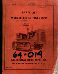 image of Parts List Model HD Tractor