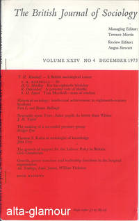 HISTORICAL SOCIOLOGY: INTELLECTUAL ACHIEVEMENT IN EIGHTEENTH-CENTURY SCOTLAND; Reprint from The British Journal of Sociology by  Vern L. and Bonnie Bullough - 1973 - from Alta-Glamour Inc. and Biblio.co.uk