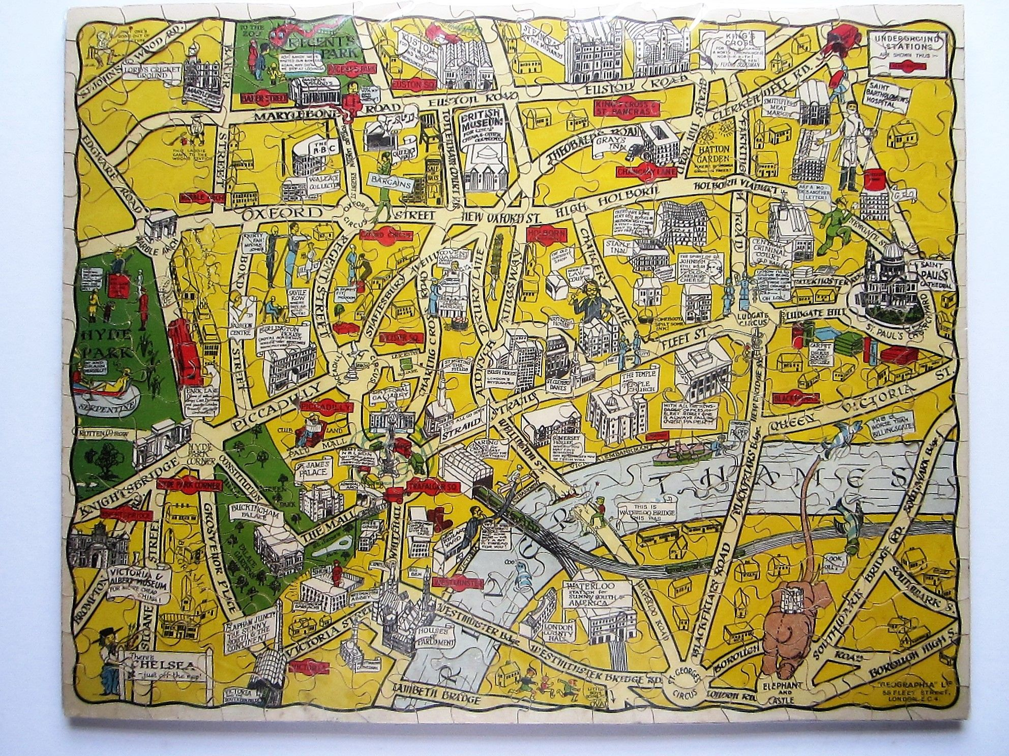 New Jig-Saw Puzzle: Pictorial Map of London. (photo 1)