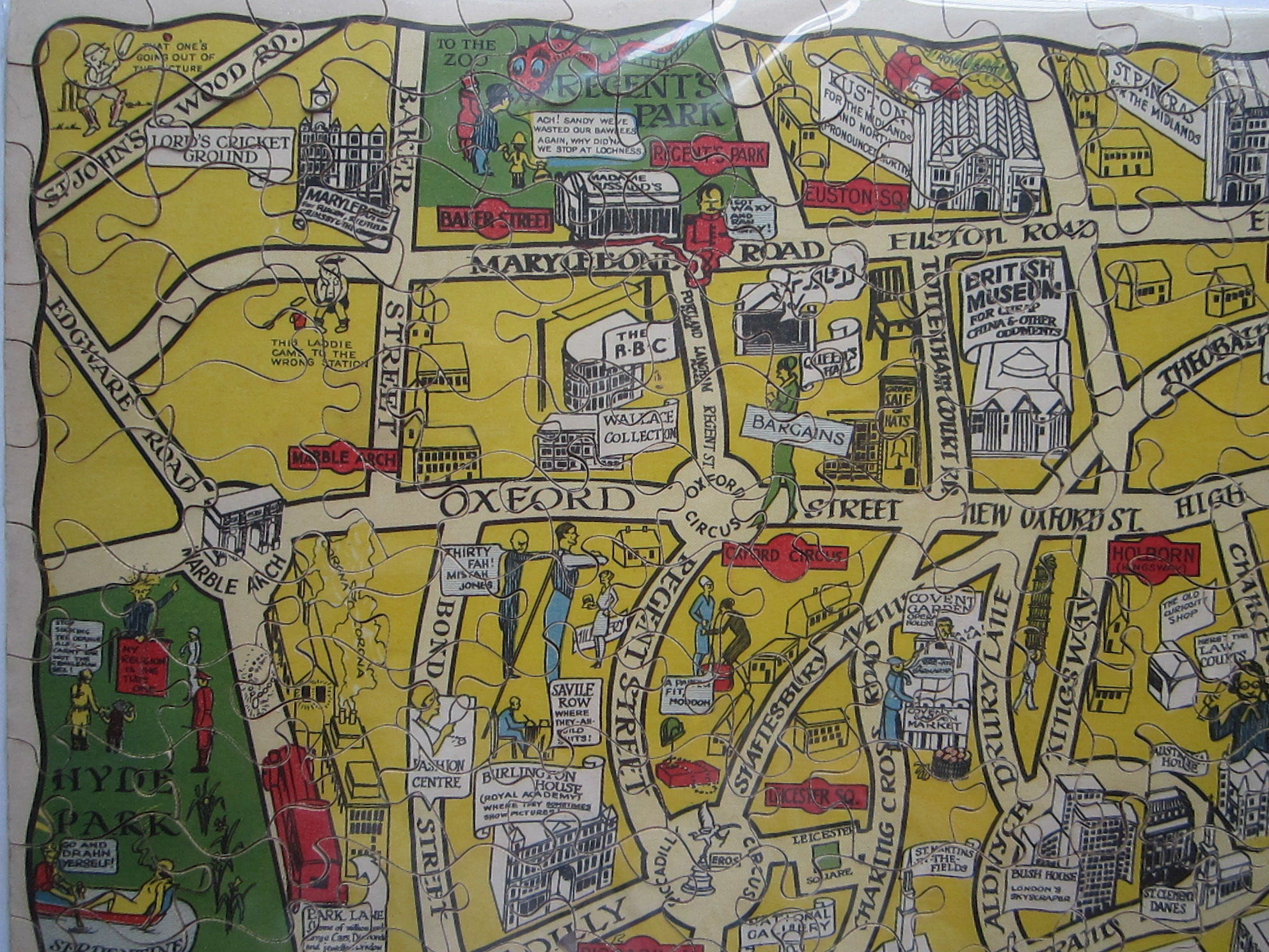 New Jig-Saw Puzzle: Pictorial Map of London. (photo 2)