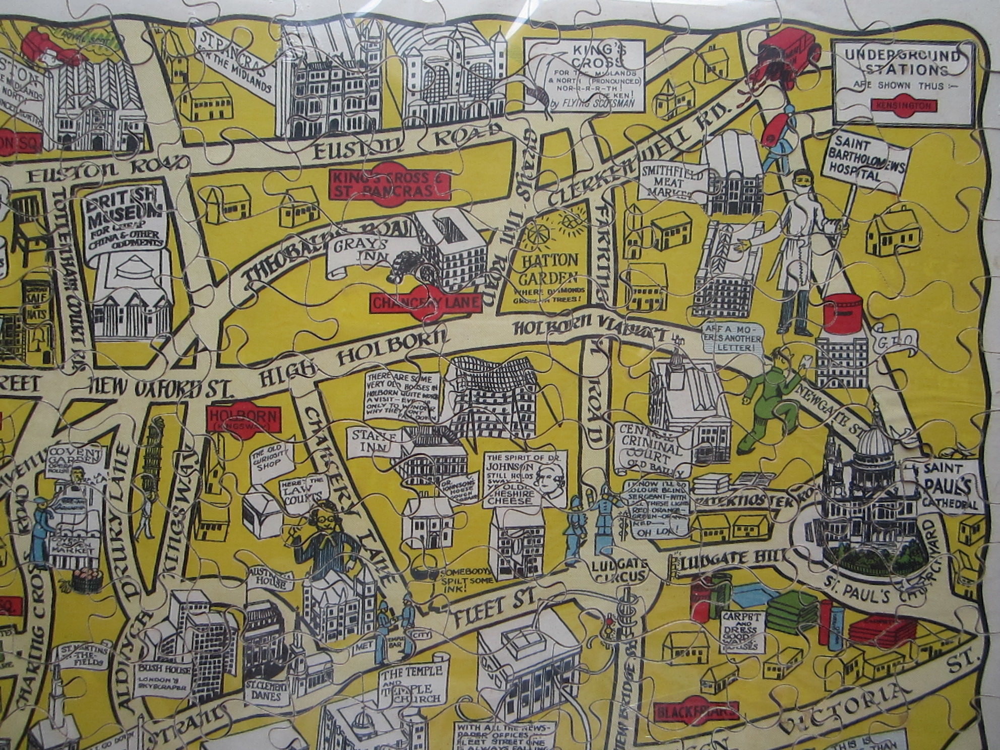 New Jig-Saw Puzzle: Pictorial Map of London. (photo 3)