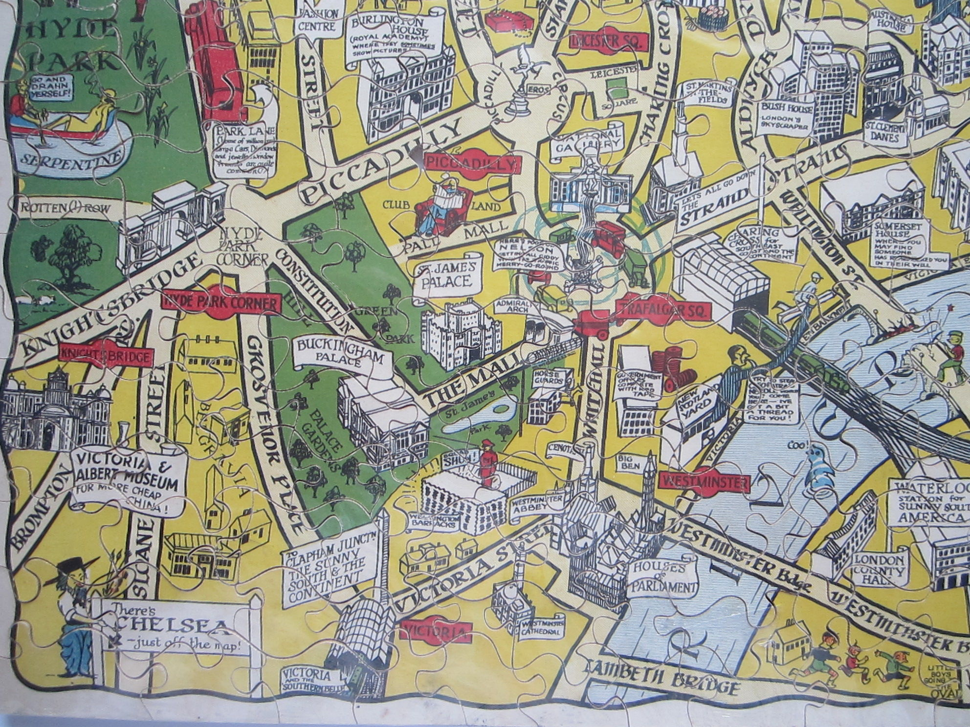 New Jig-Saw Puzzle: Pictorial Map of London. (photo 4)