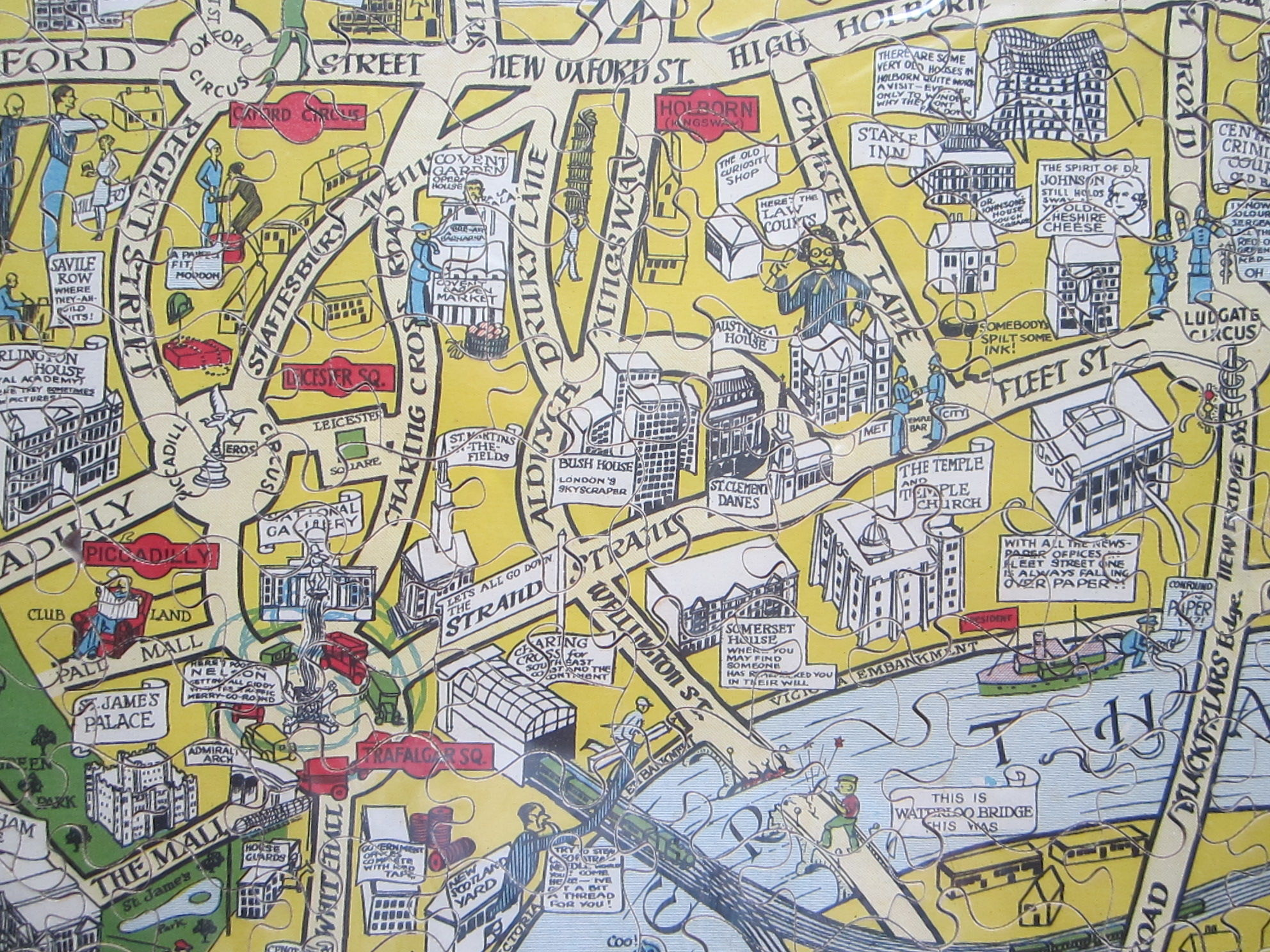 New Jig-Saw Puzzle: Pictorial Map of London. (photo 5)