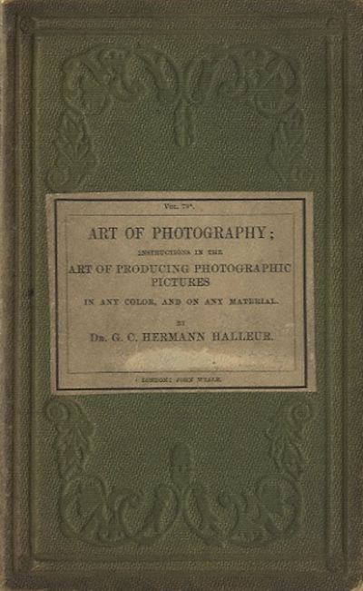 London: John Weale, 1854. First English language edition. 12mo., xii; 108 pp., 10 b&w wood engraving...