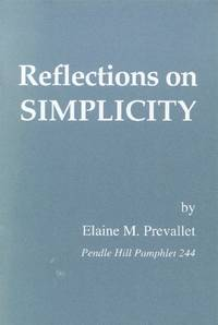 image of Reflections on Simplicity (Pendle Hill Pamphlet 244)