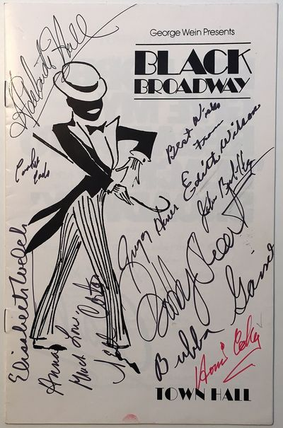 New York, 1980. unbound. Extremely scarce Playbill-sized signed program, 8.5 x 5.5 inches, for