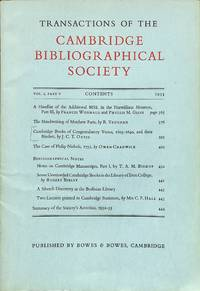 Cambridge Books of Congratulatory Verses, 1603-1640, and Their Binders.