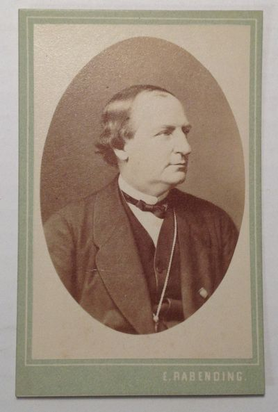 1870. Unbound. Inscribed photocard of the German composer and conductor; inscription on verso in Ger...