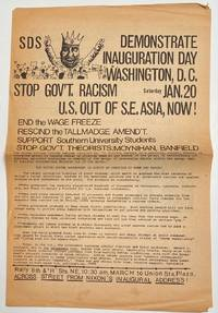 image of Demonstrate inauguration day. Washington, DC. Saturday, Jan. 20. Stop gov't racism. US out of SE Asia, now! [broadside