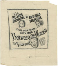 image of Between Two Women (Collection of 9 original concept art sketches for the 1945 film)