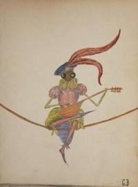 Album Comique.  Concert des Artistes Papillons. Executant le Grand Air de la Muette