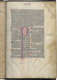 Vulgate Bible:  Proverbs, Ecclesiastes, Wisdom, Ecclesiasticus, Song of Songs with the Ordinary Gloss (marginal commentary); in Latin, decorated manuscript on parchment