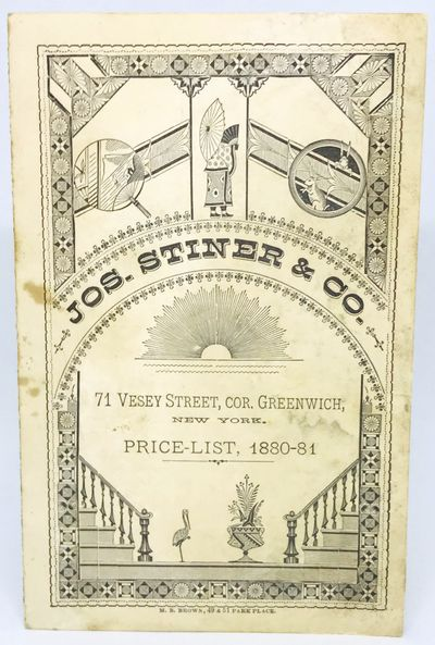 New York: M.B. Brown, 1881. Cards. White illustrated card stock. Good. 14 x 9 cm. folded, 14 x 18 cm...