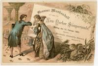 Invitation - Grosser Masken der New Yorker Sangerrunde