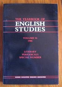 image of Yearbook of English Studies: 1986 Literary Periodicals volume 16