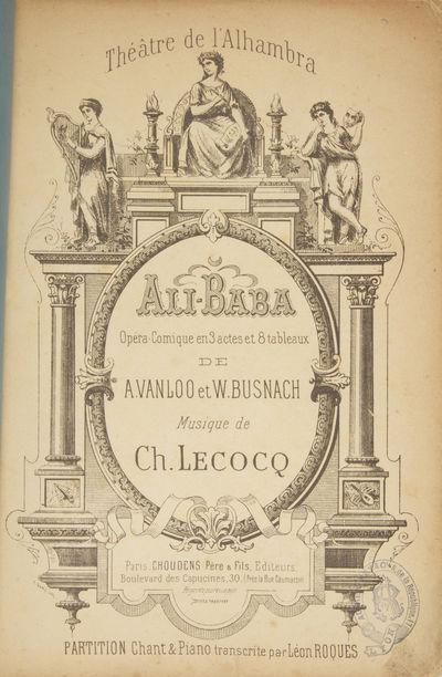 Paris: Choudens Père & Fils , 1890. Large octavo. Plain blue wrappers with manuscript titling in bl...