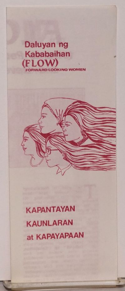 Quezon City, Philippines: FLOW, 1987. Single sheet folded to create 8-panel brochure introducing a P...