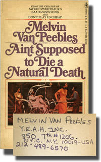 image of Ain't Supposed to Die a Natural Death (First Edition, Melvin Van Peebles' copy)
