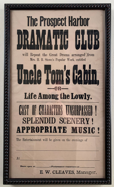 Uncle Tom�s Cabin Advertised by...