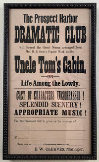 Uncle Tom's Cabin Advertised by Local Maine Drama Club