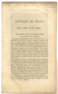 Advocate of Peace. May and June 1849. the Right Point for the Lever. a  Very Common Error Corrected