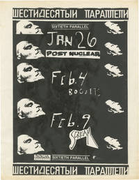 image of Original flyer for three shows by Sixtieth Parallel, 1989