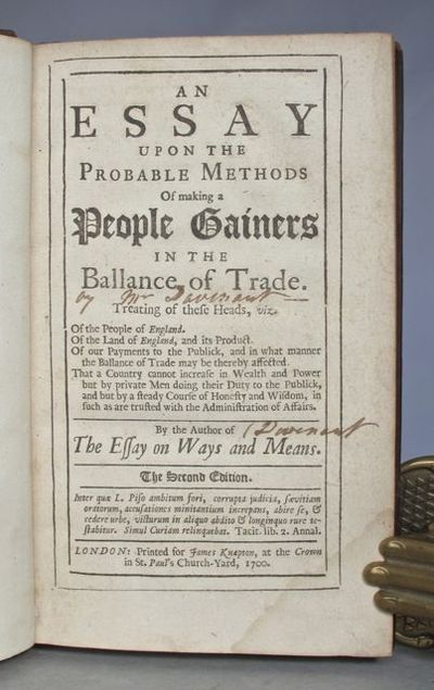 charles davenant essay balance power 6 sovereign power as rather its invocation in a peculiar way  and fundamentally altered the patterns and balance of  wren, charles davenant, and .
