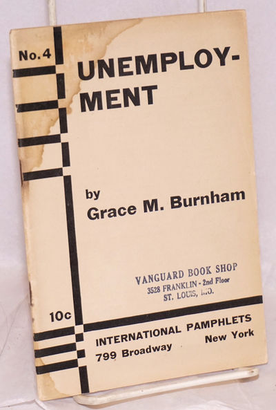 New York: International Pamphlets, 1932. Pamphlet. 40p., wraps, item has a badly stained corner with...