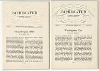 Imprimatur. A literary quarterly for bibliophiles