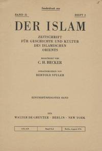 Two Book Reviews Reprinted from Der Islam, Volume 51, Number 2 (1974)