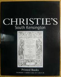 Printed Books; 7 March 2002; Sale No. 9334