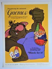 TV Advertising Poster for GNOMES: Introducing the Animated Gnomes, Tomorrow Entertainment Presents and Hour - Long CBS-TV Special on Tuesday, November 1, 1980 at 8:00 P.M. EST Watch for it !
