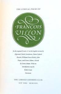 THE LYRICAL POEMS OF FRANCOIS VILLON