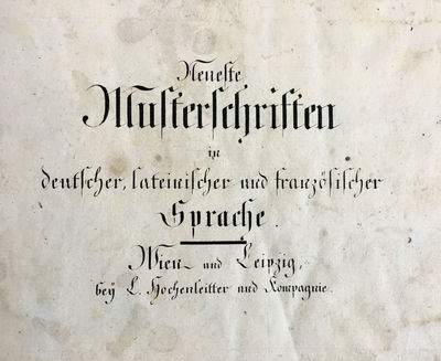 Neueste Musterschriften in deutscher,...