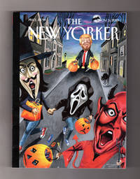 "image of The New Yorker - November 5, 2018. Mark Ulriksen Cover, ""Boo"".  Gavin Newsom; Trump Era Follies; End of First World War; Incarcerating Mothers; Infinite Jest; Prairie Wildfires; Sylvia Plath; Bohemian Rhapsody"