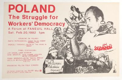 Boston: Boston Solidarity Support Committee, 1982. 17x11 inch poster, very good. Speakers included H...
